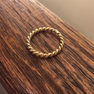 Tiffany & Co. gold twist ring size 5.5